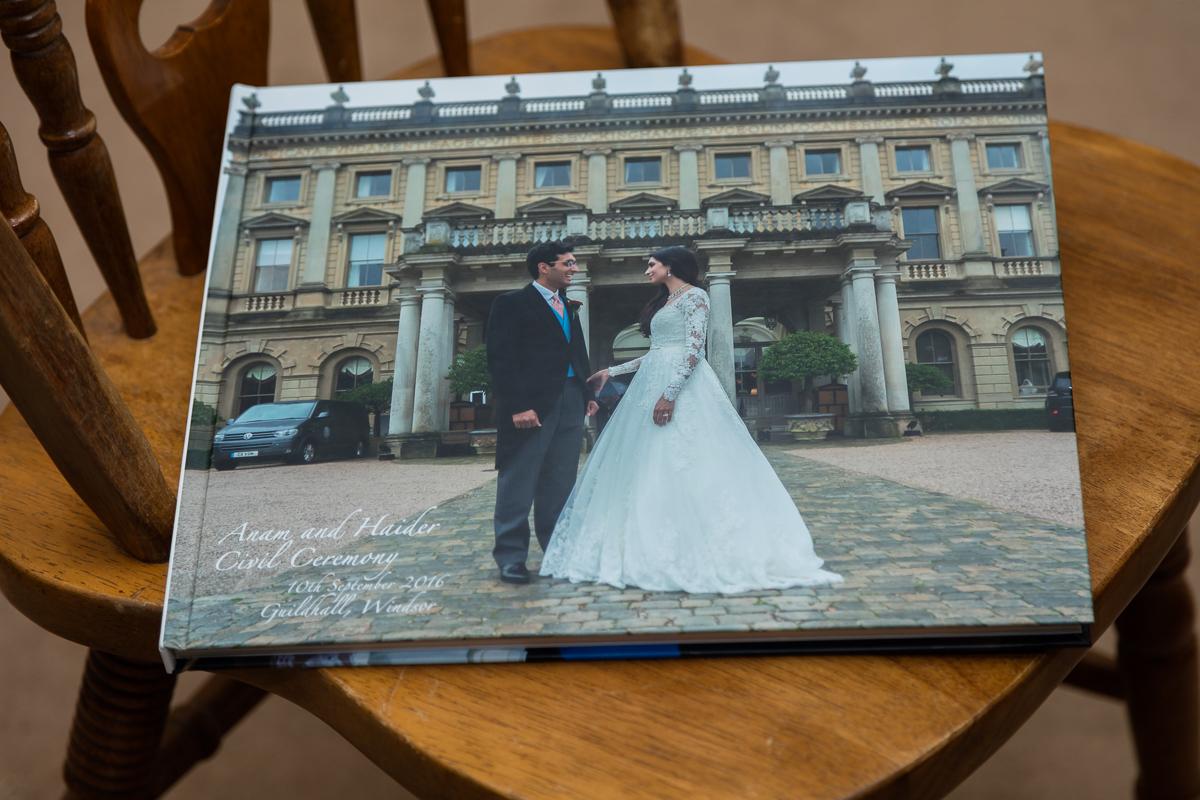 Large landscape album asian wedding album design and printing